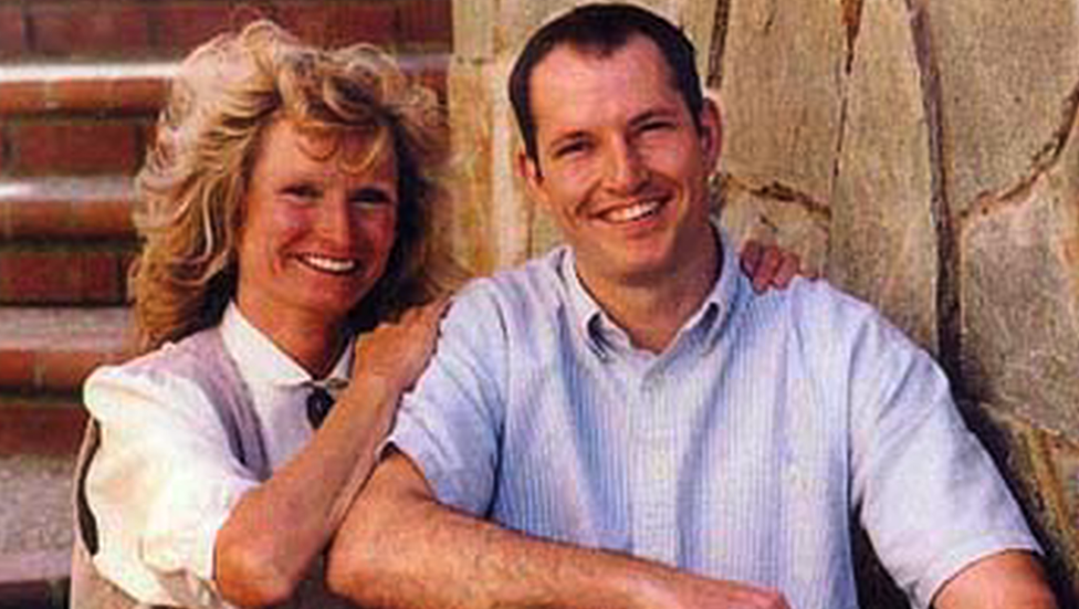 Alice Hoagland and her son Mark Bingham.