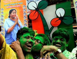 Photos: TMC supporters celebrate in WB