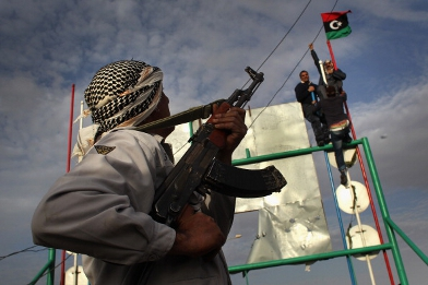 Tentara pemberontak Libya. Foto: Gettyimages