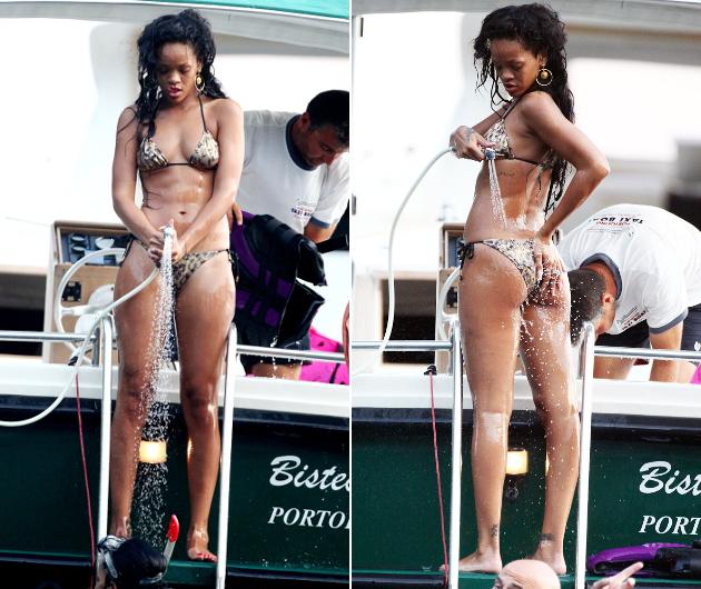 Ganz schn freizgig: Rihanna postet ihre Brste auf