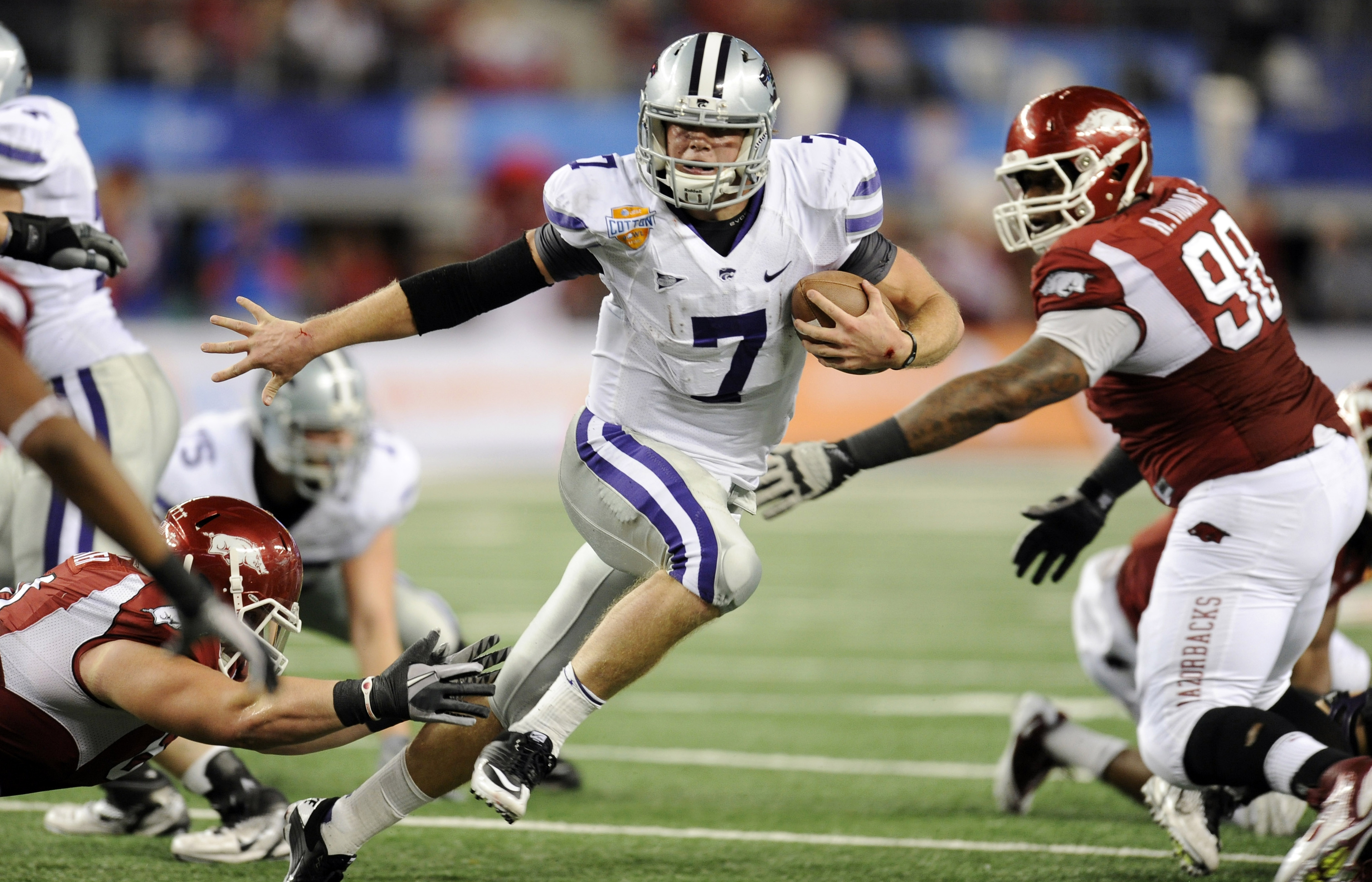Collin Klein helped Kansas State go 8-1 in games decided by seven or fewer points last season. (AP)
