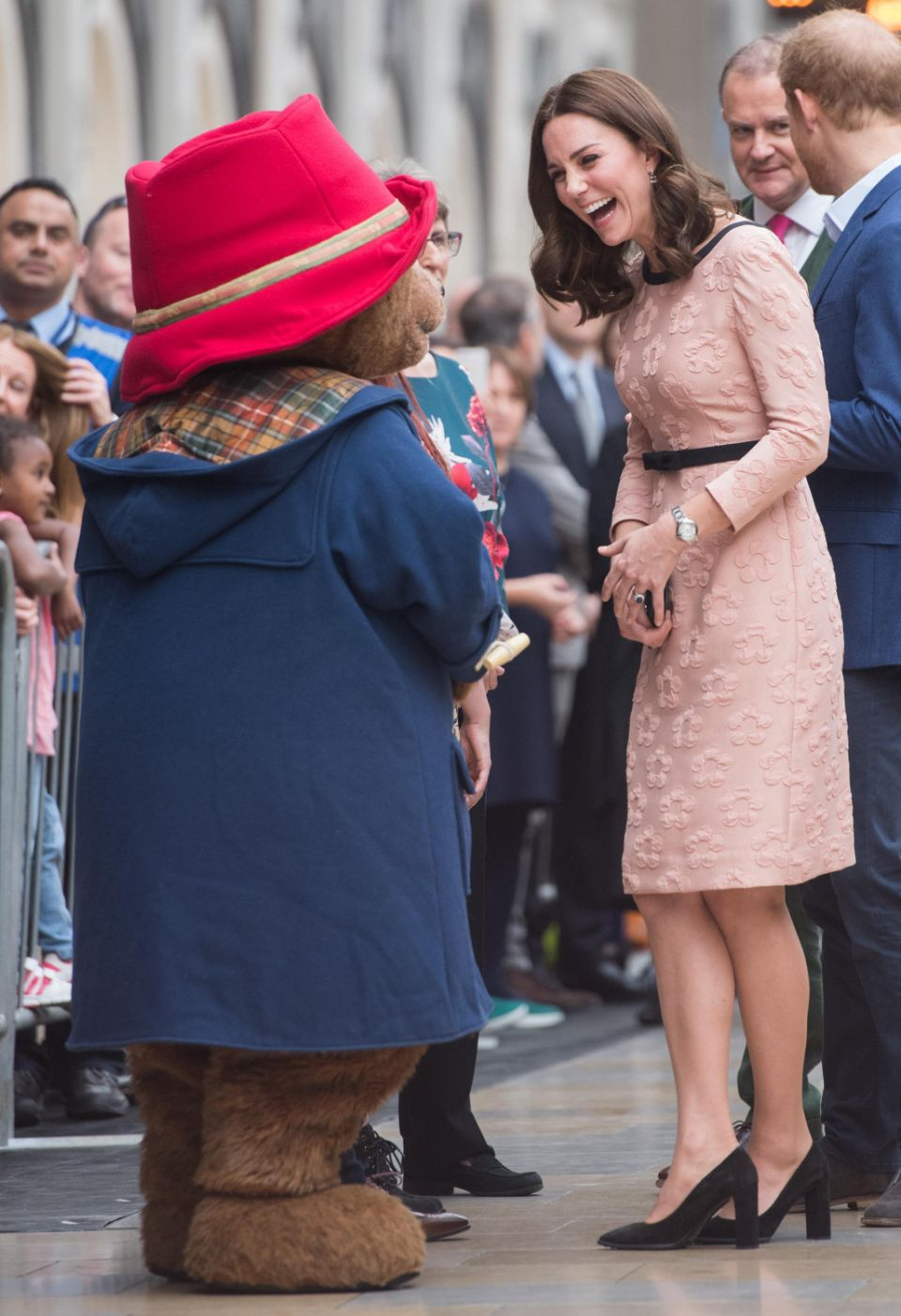The Duchess of Cambridge made an unexpected visit to Paddington Station on Monday morning, where the news was revealed. Photo: Getty Images