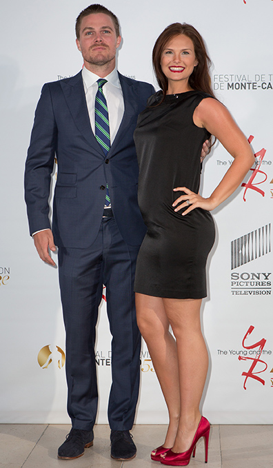 Stephen Amell and Cassandra Jean (Getty Images)