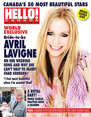 Avril Lavigne on the cover of HELLO! Canada.