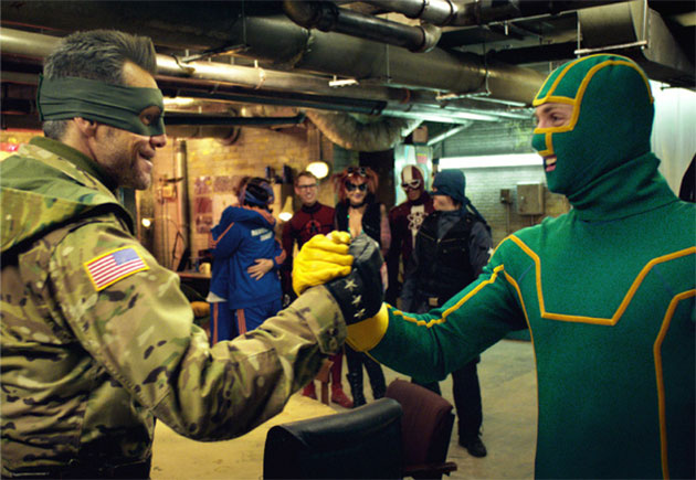 "Jim Carrey and Aaron Taylor-Johnson star in ""Kick-Ass 2."" (Universal Pictures)"
