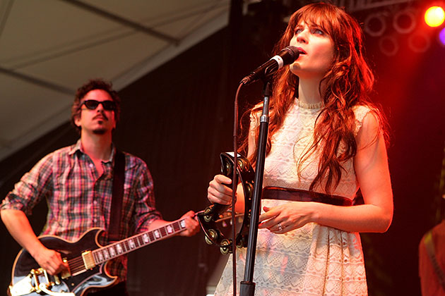M. Ward and Zooey Deschanel perform as the musical duo She & Him. (Gary Miller/WireImage)