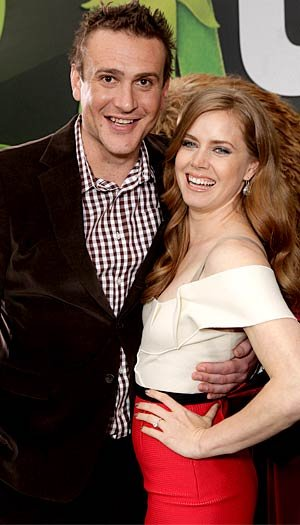 Jason poses with co-star Amy Adams. Todd Williamson/WireImage.com