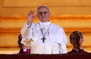 Newly elected Pope Francis I has a bunch of cyber squatters trying to get in on his namesake. (Getty Images)