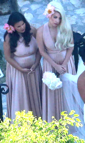 Lady Gaga plays bridesmaid (FameFlynet)
