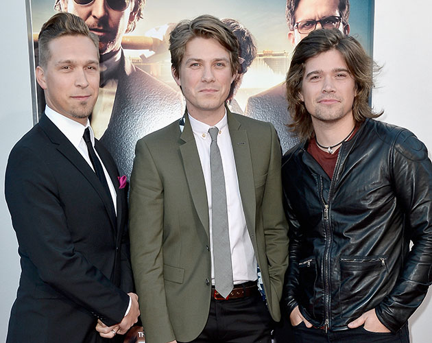 Isaac, Taylor, and Zac Hanson at the 'Hangover Part III' premiere. (Frazer Harrison/Getty Images)