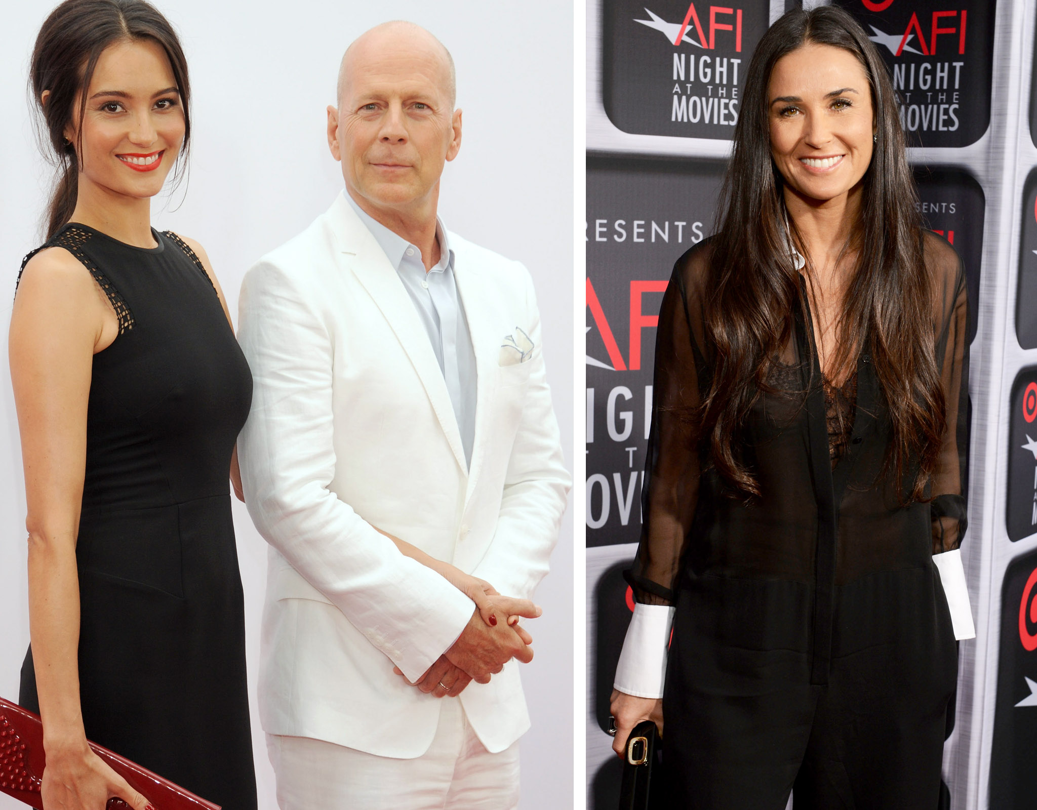 Emma and Bruce Willis, Demi Moore (Wireimage/Wireimage)