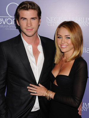 Liam Hemsworth and Miley Cyrus in June 2012 (Getty Images)