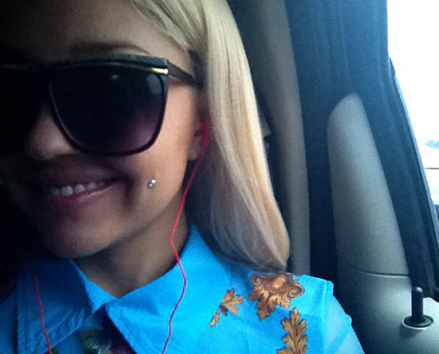 Amanda Bynes is happily pierced. (Instagram)