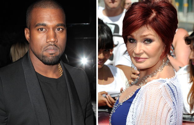 Kanye West and Sharon Osbourne (WireImage/WireImage)