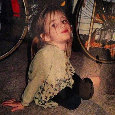 Emma Roberts as a tot. (Instagram)