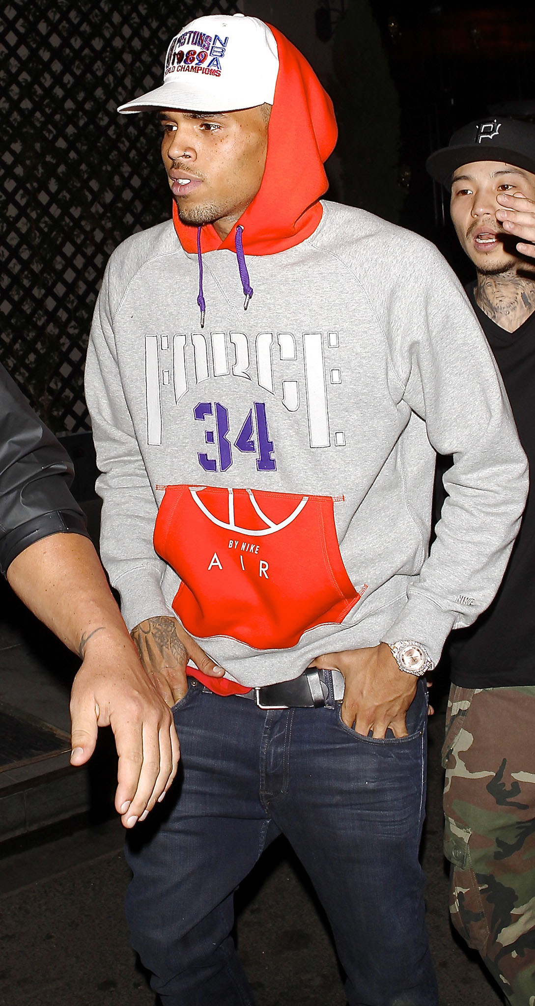 Chris Brown leaves a club on Monday, August 5, 2013 (Splash News)