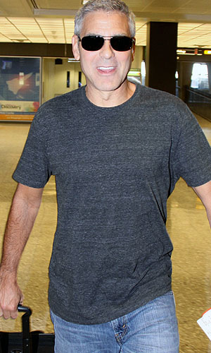 George Clooney is all smiles. (Splas News)
