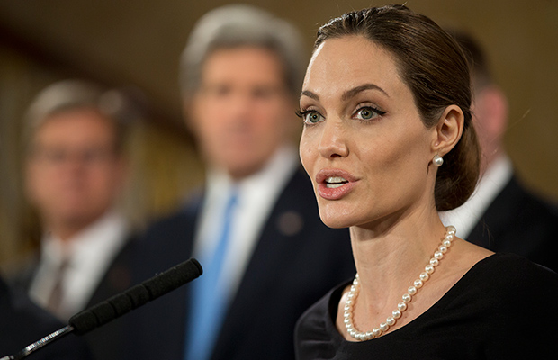 Angelina Jolie speaks before the G-8 nations (Getty Images)