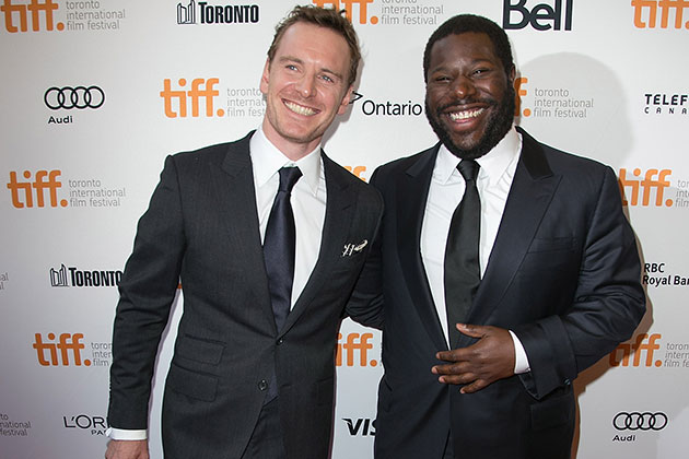 Michael Fassbender and Steve McQueen in Toronto on Sept. 6. (Terry Rice/WireImage)