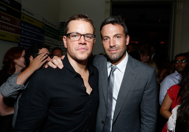Damon and Affleck, together again. (Eric Charbonneau/WireImage)