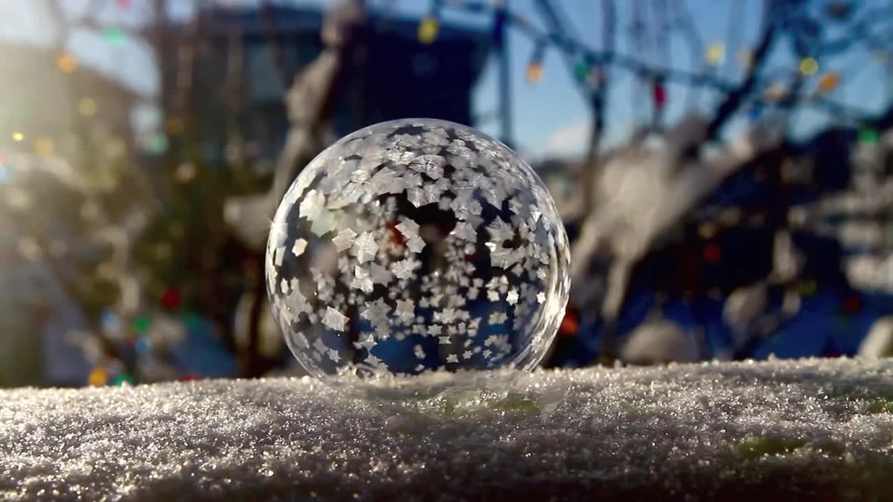 Image result for a bubble freezing is pretty amazing to watch