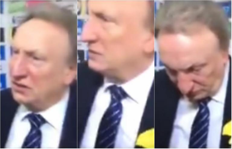 被套牌Neil Warnock似乎在每日比赛采访前告诉Gary