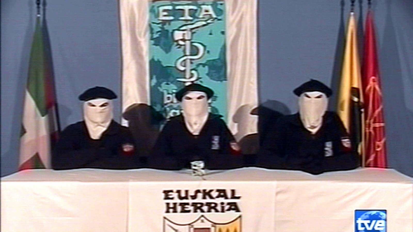ETA terrorists on Spanish TV