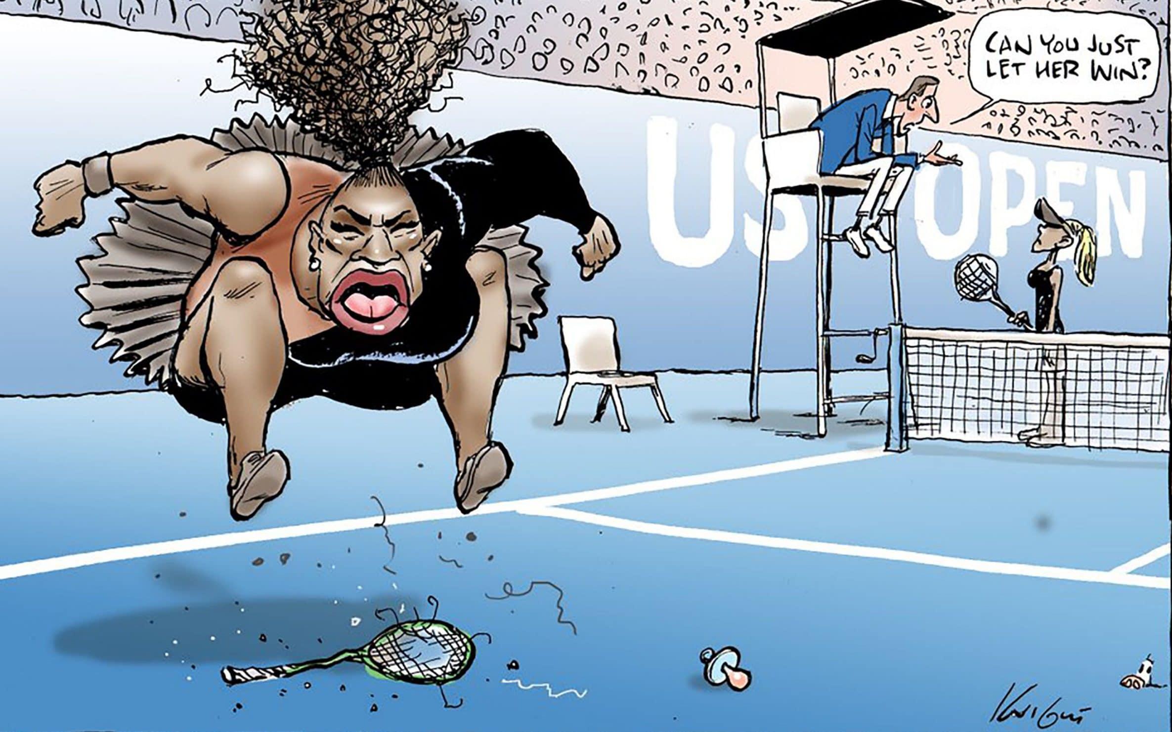 塞雷娜威廉姆斯卡通不是种族主义者