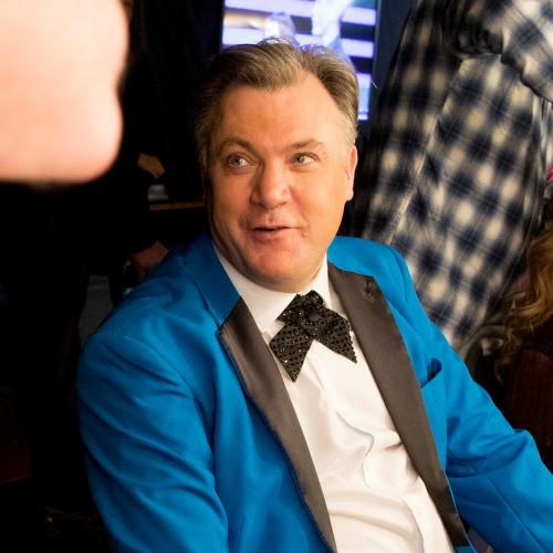 Ed Balls and Katya. Backstage and front of house photography at Strictly Come Dancing Live full dress rehearsals. Birmingham. Photograph by David Levene 19/1/17