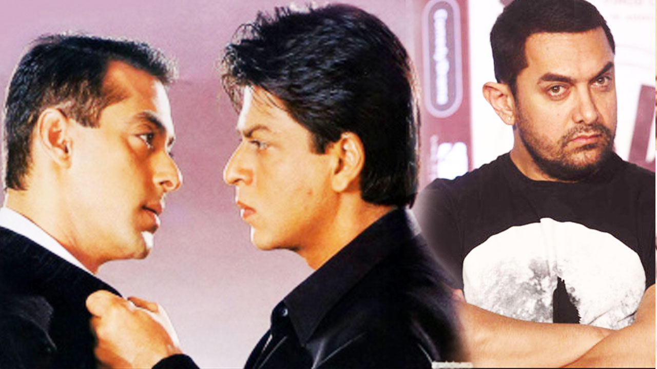 Shahrukh khan and salman khan fight
