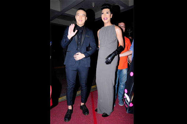 Vice Ganda walks the red carpet with comedian Ryan Bang.