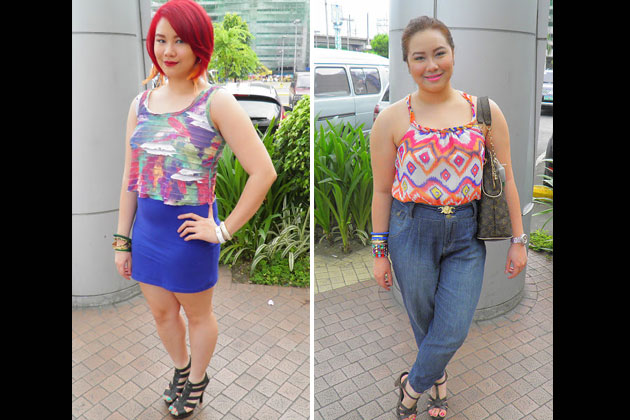 When it comes to fashion, Stacy and Danah like to dress up with clothes that flatter their curves.