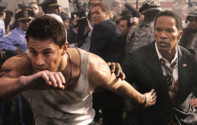 Chiseled bodied Channing Tatum is back in the explosive White House Down, an action-thriller film about USA exploding and crumbling into pieces.
