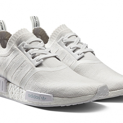 The Adidas NMD_R1 triple white monochrome pack released on 17 march 2016