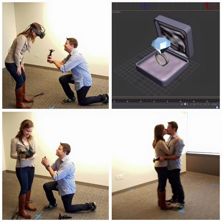 Here's How a Man Proposed to His Girlfriend Using Virtual Reality
