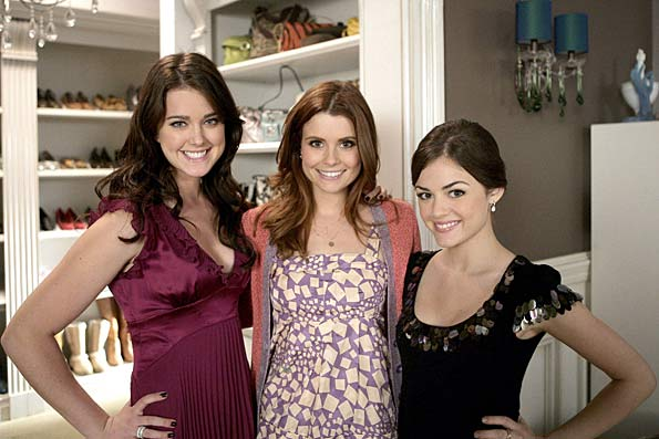 "Ashley Newbrough (Sage), JoAnna Garcia (Megan), and Lucy Kate Hale (Rose) are giving the ""Gossip Girl"" cast a run for their money when it comes to fashion. - Mitchell Haddad/Warner Bros. Television"