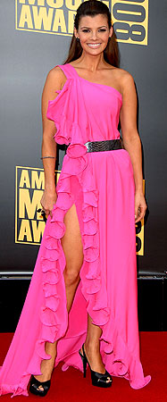 Ali Landry hits the 2008 American Music Awards red carpet in Los Angeles. - Jon Kopaloff/FilmMagic.com