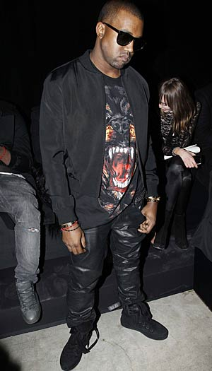 Kanye West at the Givenchy show in Paris, March 6, 2011. - Eric Ryan/Getty Images