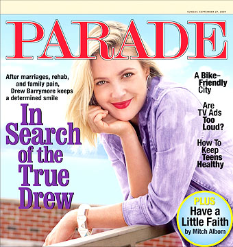 Drew Barrymore reveals the truth behind the smile in Parade magazine. - Parade