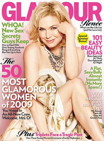 Renee Zellweger shares her life list in Glamour magazine's June issue. - James White/Glamour