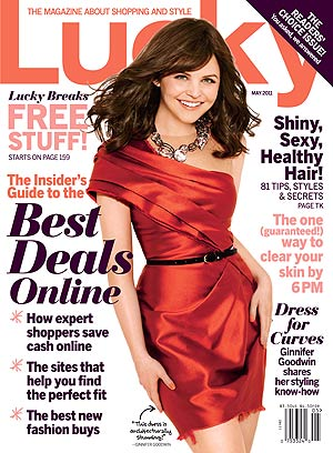 Ginnifer Goodwin graces the cover of Lucky magazine in a gorgeous Vera Wang gown. - Lucky