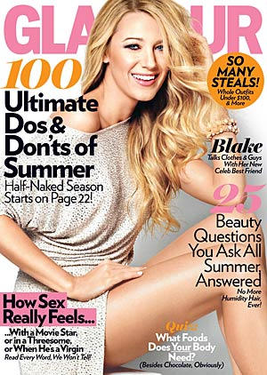 Actress Blake Lively talks to Glamour magazine for its July issue. - Terry Tsiolis/Glamour