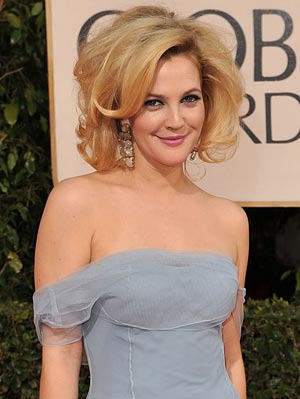 Drew Barrymore rocked some big hair on the Golden Globes red carpet. - Steve Granitz/WireImage.com