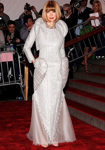Anna Wintour strikes a pose at the 2008 Met Costume Gala. - Dimitrios Kambouris/WireImage.com