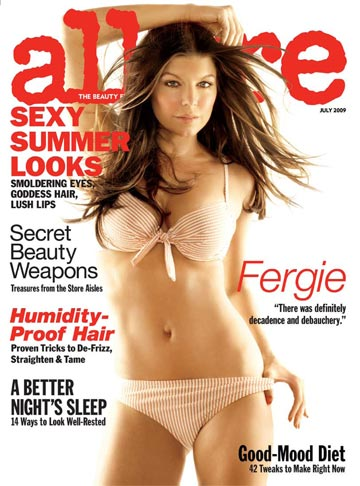 Fergie is bikini ready in the July issue of Allure! - Michael Thompson/Allure