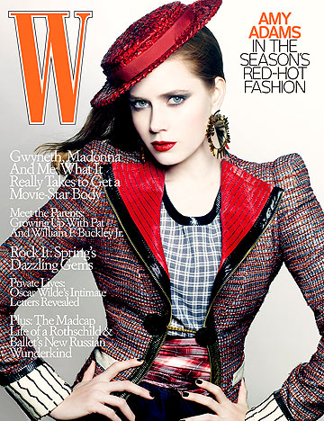 Amy Adams graces the cover of W magazine. - Craig McDean/W magazine