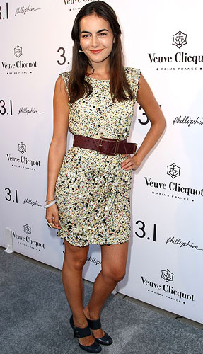 Camilla Belle donned the same dress at the opening of Lim's LA boutique. - Alberto E. Rodriguez/Getty Images