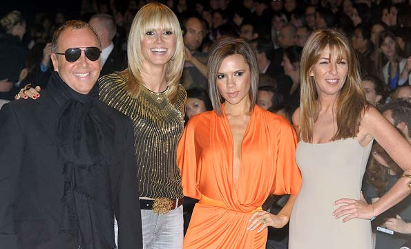 "Last season's ""Project Runway"" finale judges: Michael Kors, Heidi Klum, Victoria Beckham, and Nina Garcia. - Gilbert Carrasquillo/FilmMagic.com"
