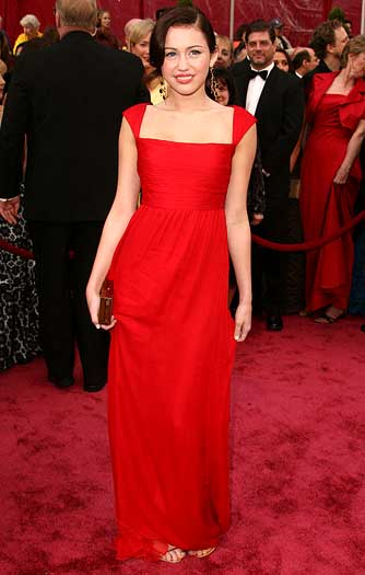 "Miley Cyrus wore Valentino's signature red to the 2008 Oscars, but the designer did not approve: ""Wrong proportions. No."" - Steve Granitz/WireImage.com"