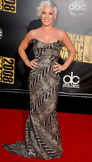 Pink sparkled in the same gown at the 2008 American Music Awards. - Steve Granitz/WireImage.com